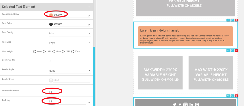 6.Adding style around text as borders