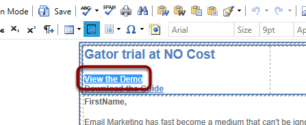 When the template loads, highlight 'View the Demo'