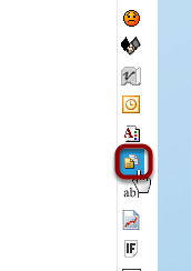 When the Editor loads, click the Insert Template icon