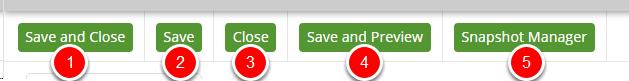 Save & Close Tool Bar