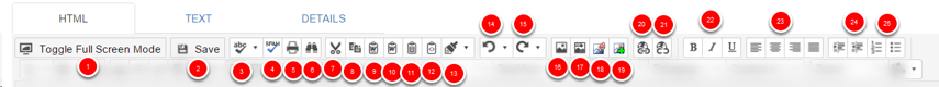 Content Buttons (top line)