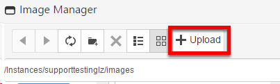 Uploading a new image to image manager