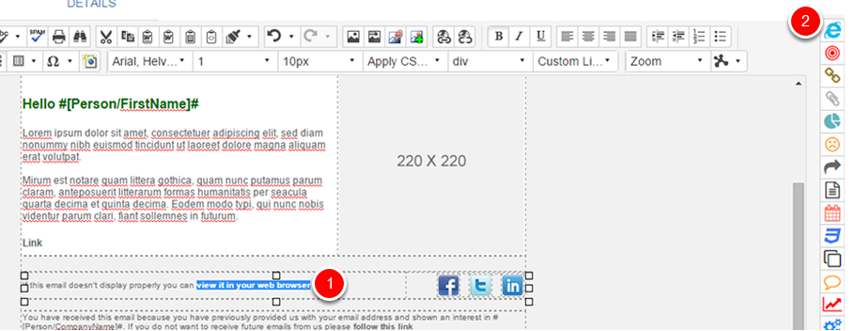 Inserting a View in Browser Link