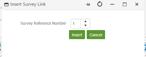 Select the Survey Reference Number