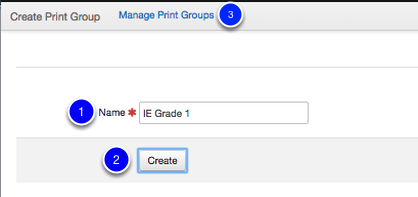 Create a Print Group
