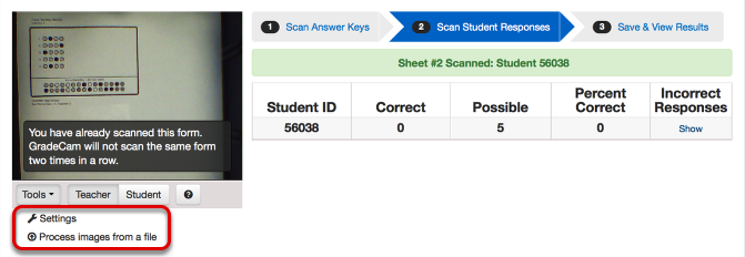 Scan Answer Document(s)