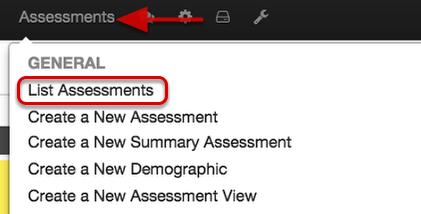 Assessment's Performance Widget