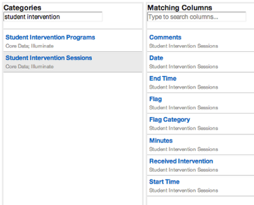 Look within Custom Reports (Manage Columns tab)