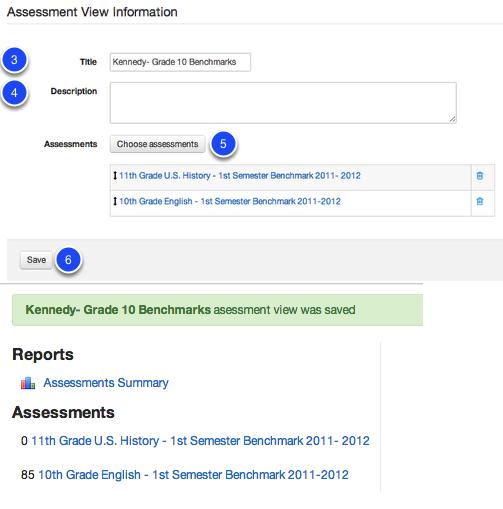 Create an Assessment View