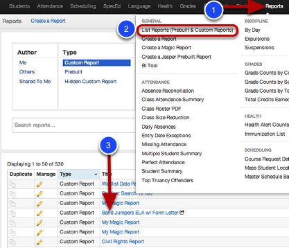 Push Custom Reports to Ze Library
