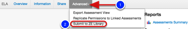 Submit to Ze Library