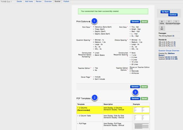 Format Assessment Booklet