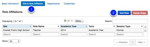 Add Term/Role Affiliations