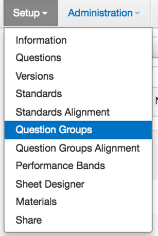Align to Question Groups