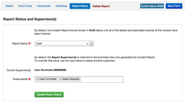 Report Status