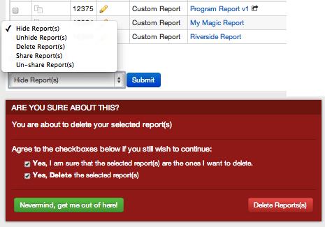 Delete a Report