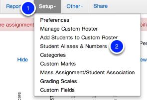 Student Aliases & Numbers