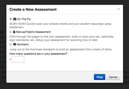 Select an Assessment Type