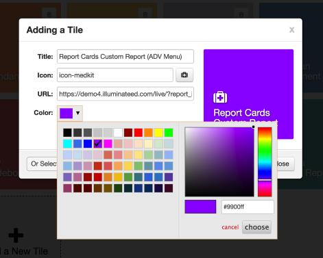 Color Menu Preview