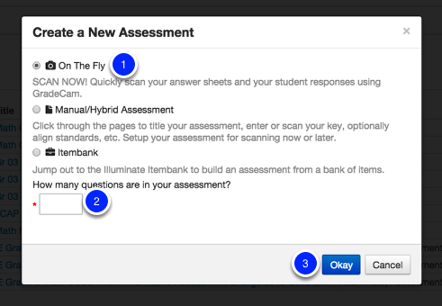 Create a New Assessment