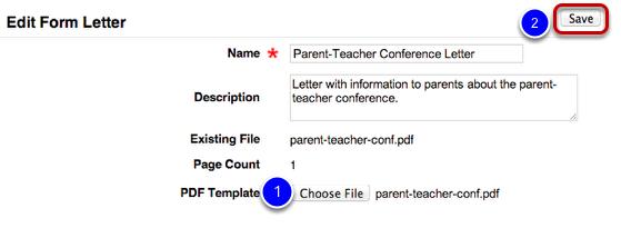 Upload PDF Template