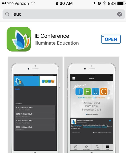 1. Open your Apple or Android app store
