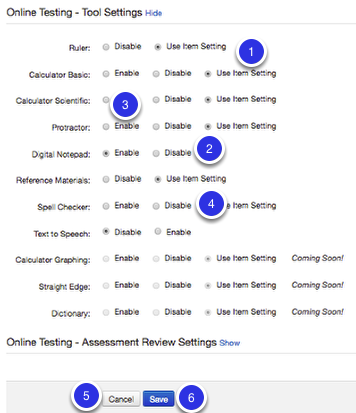 Tool Settings (Click Show):