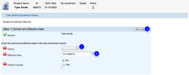 Populate Required Fields In Enrollment Wizard