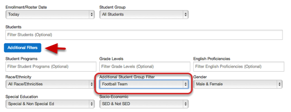 Using Student Groups as a Demographic Filter for a Single Report