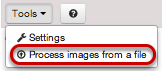 Preparing to Process an Image from a File.
