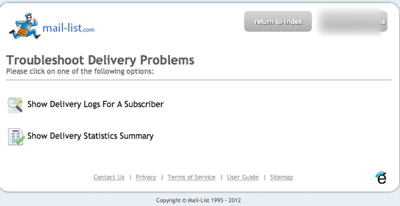 Choose Show Delivery Logs For A Subscriber