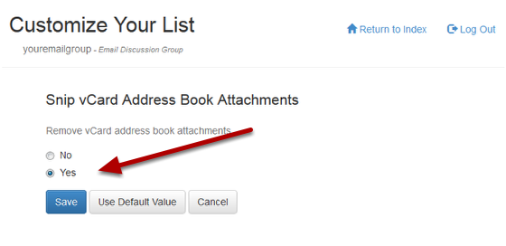 Click on the link for Snip Vcard Address Book Attachments