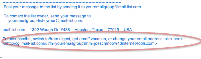 The easiest way is to click on the link at the bottom of each email