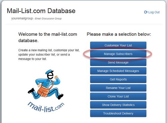 Log into you mail-list account at https://database.mail-list.com