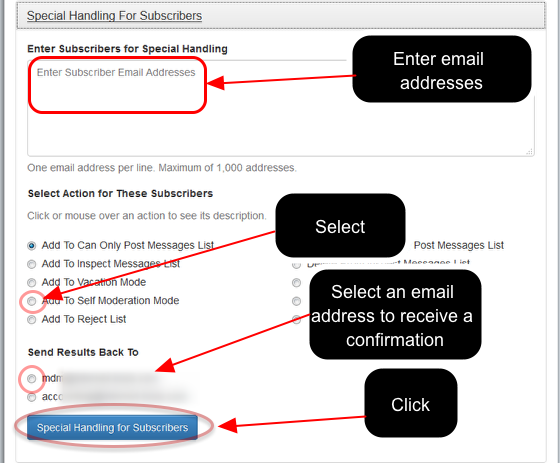 """Click on """"Manage Subscribers"""" at https://database.mail-list.com:"""