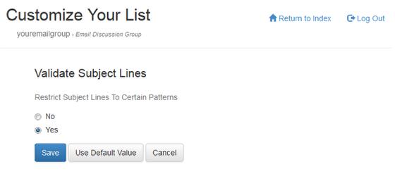 Turn Validate Subject Lines option on
