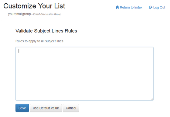 Add rules by clicking on Validate Subject Line Rules