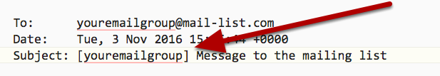Your email subject lines will look like this