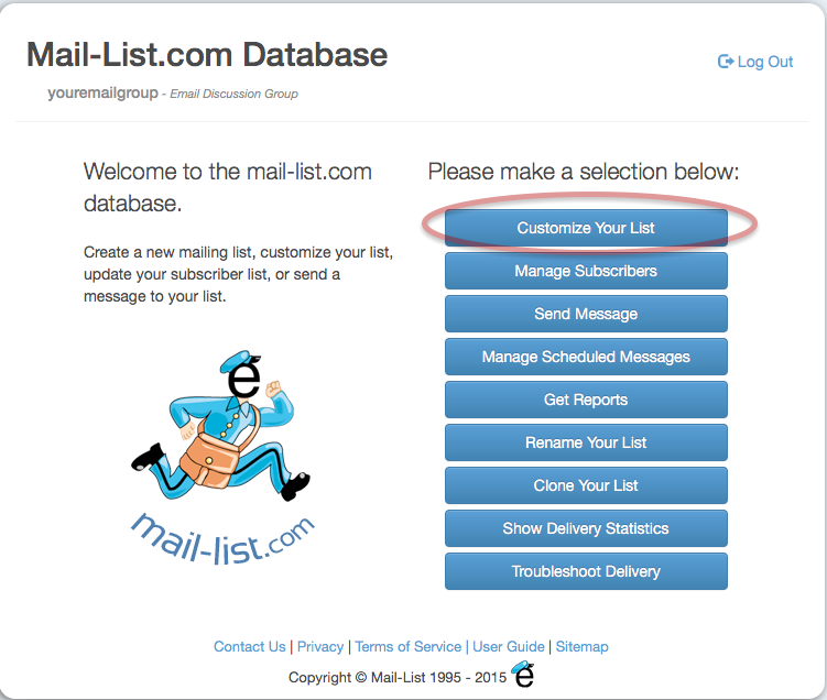 You can change this prefix value, by logging in and clicking on the Customize Your List