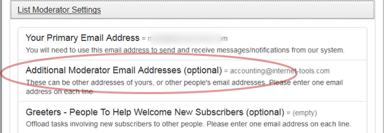 You may have other email addresses.  These can be other email addresses of yours, or an email address of a colleague.