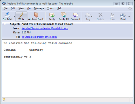 This is how the first confirmation email will look like: