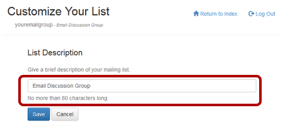 "Type in your list description in the box under ""List Description"":"