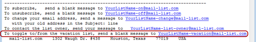 Update the footer of your list messages in case you wish to inform your subscribers about this option: