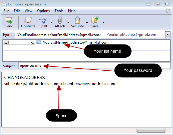 Alternatively, you can send an email to our system with the command CHANGEADDRESS