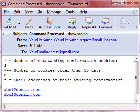 Here is an example of the email that you will receive:
