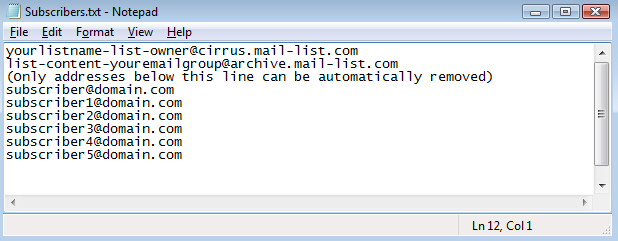 When the attached file that came with the email is opened, this is how it looks like: