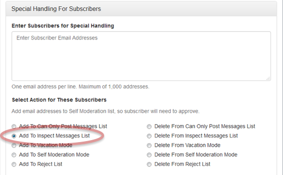 Add the email addresses into the input form