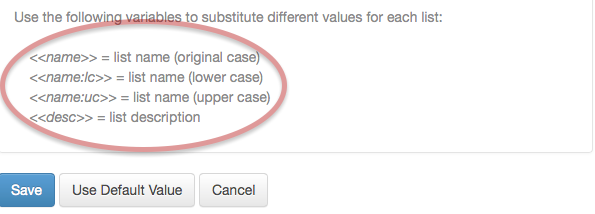 You can use special variable names to drop the respective values in for each list