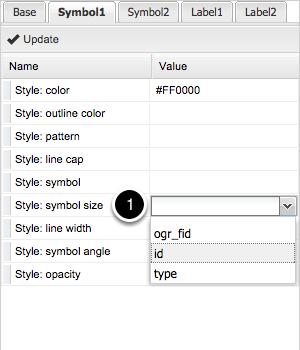 The Symbol1 and Symbol2 tab