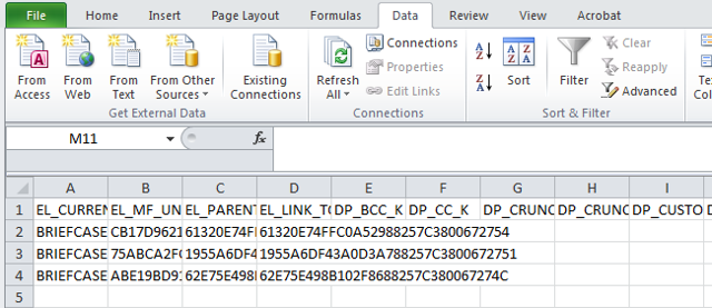 Place the CSV file in Excel using Excel's Data tab
